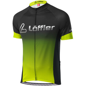 Löffler Messenger Mid Full-Zip Bike Jersey Men, black/light green